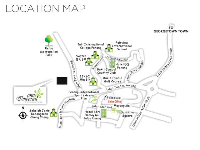 Map of Imperial Condominium