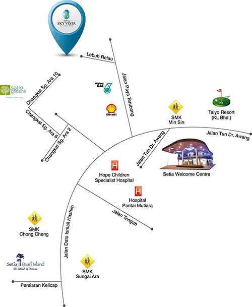 Map of A Resort Retreat Right at Home
