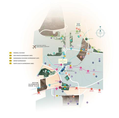 Map of Harmonious Condominium