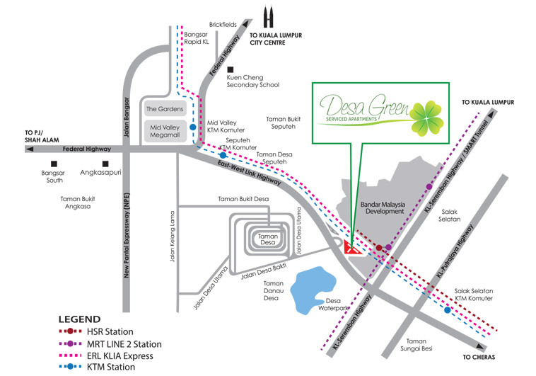 Map of Greenery Serviced Apartments