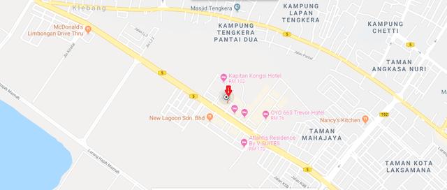 Map of Development in Kota Laksamana