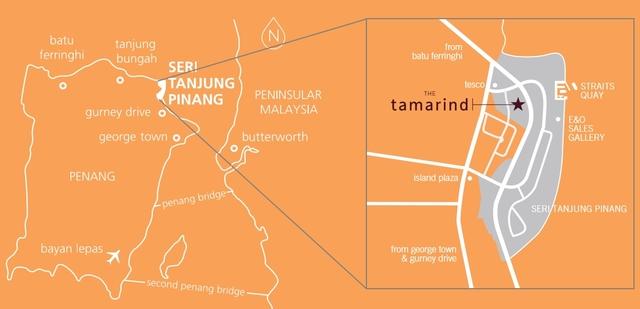 Map of Comfortable seafront Condominium