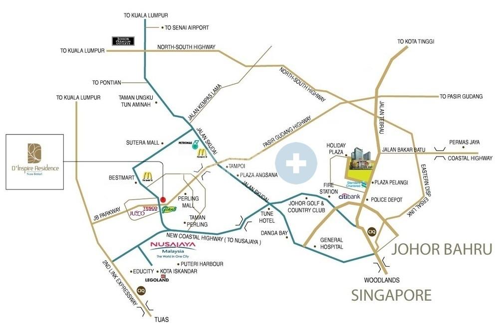 Map of Inspiring Residence
