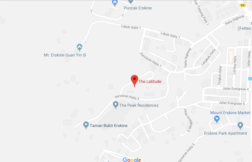 Map of Mount Eskrine Residence