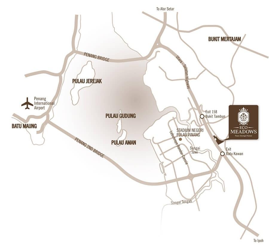 Map of Flourishing Residences