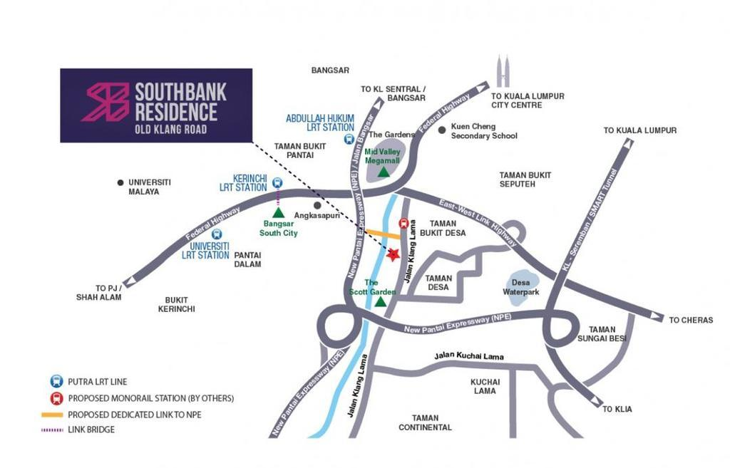 Map of Southbank 2 @ Old Klang Road Residence