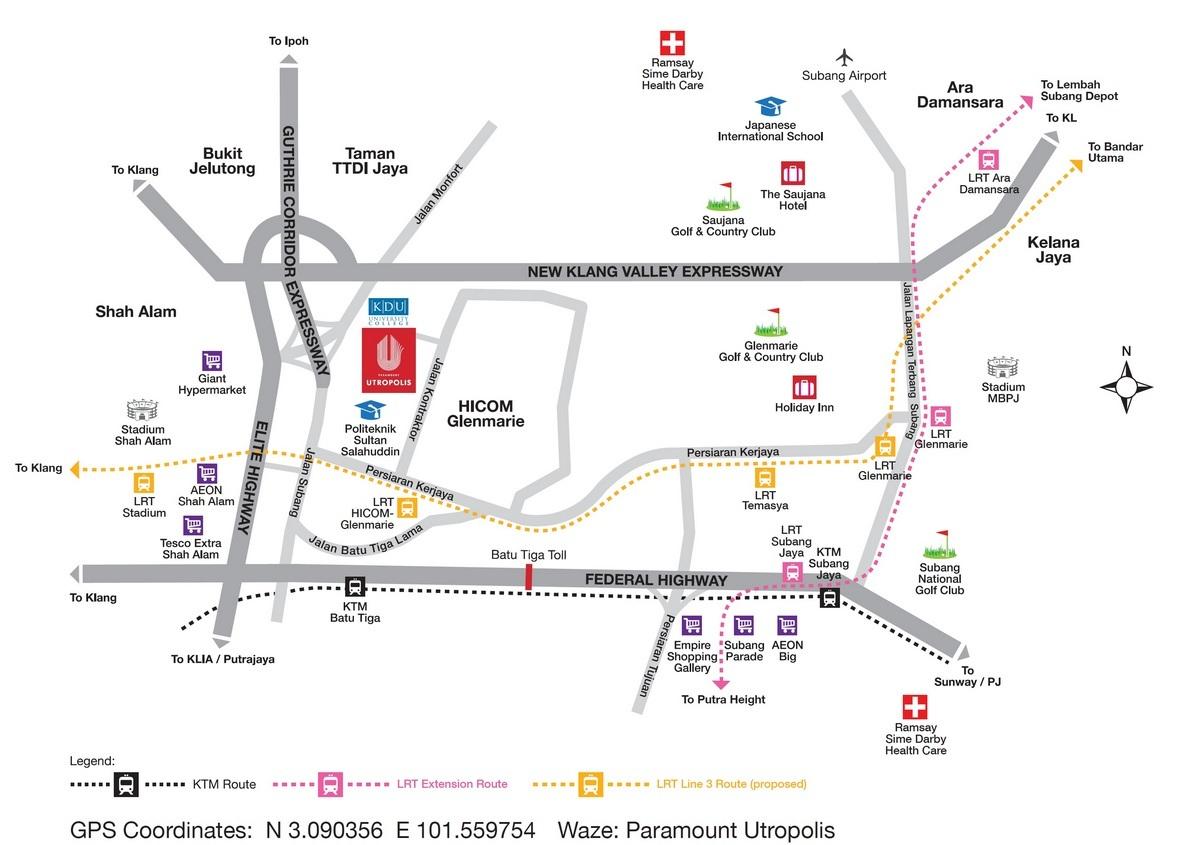 Map of Residences in Glenmarie