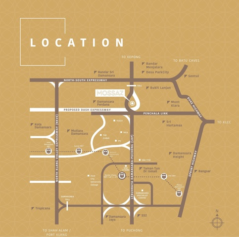 Map of Hidden Gem of Petaling Jaya