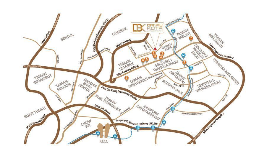 Map of City Centre Condominium