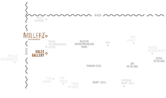 Map of Livelier Office Tower in Kuala Lumpur