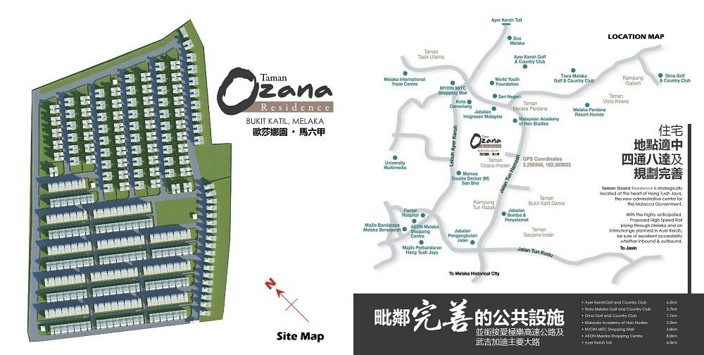 Map of Lifestyle Residence in Melaka