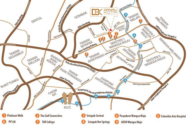Map of Shoplot in Setapak