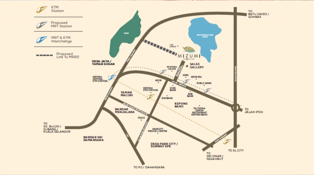 Map of Residences in Kepong