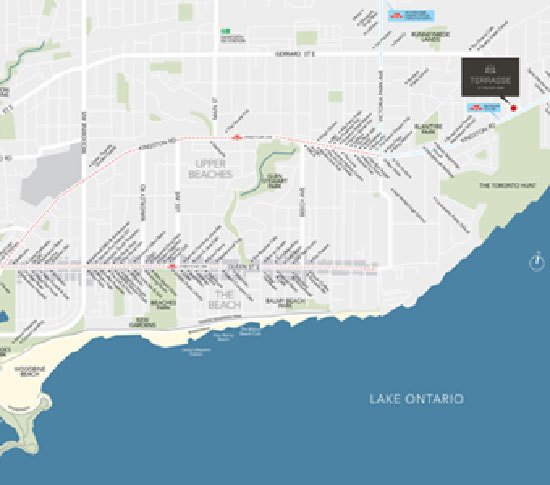 Map of Terrasse - Boutique Luxury Condominiums