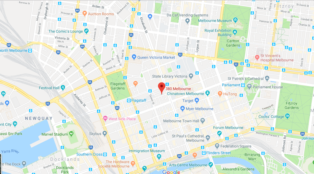 Map of 380 Melbourne