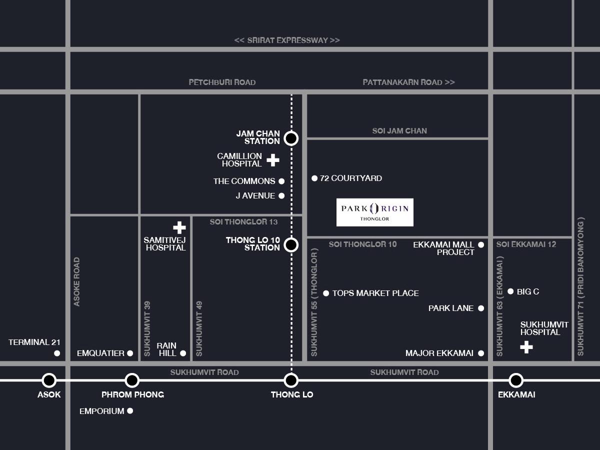 Map of Park Origin Thonglor