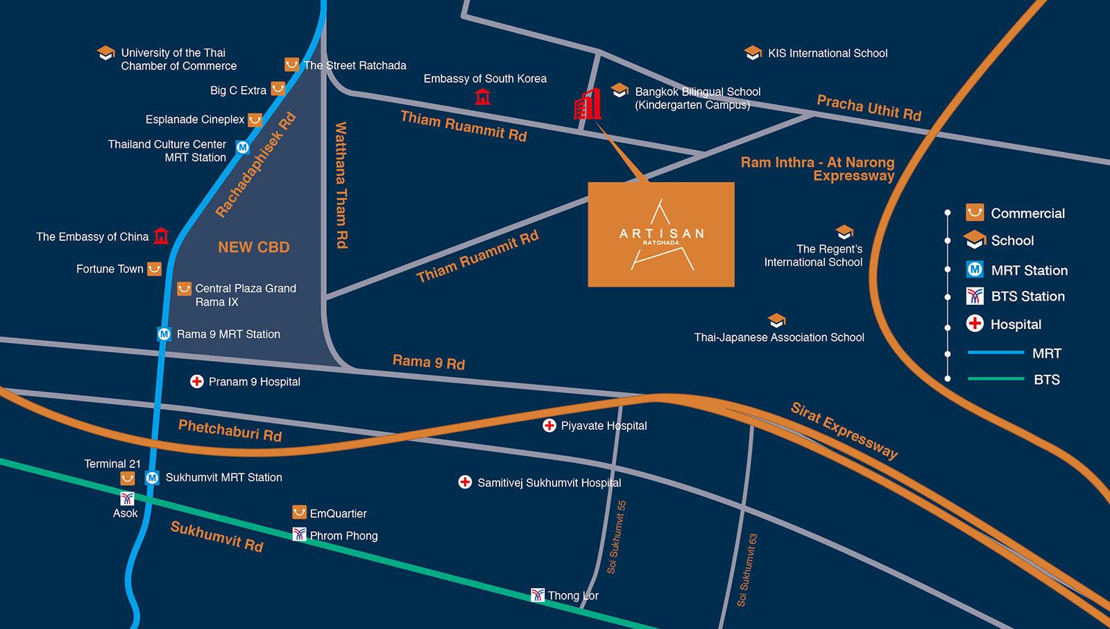 Map of Artisan Ratchada