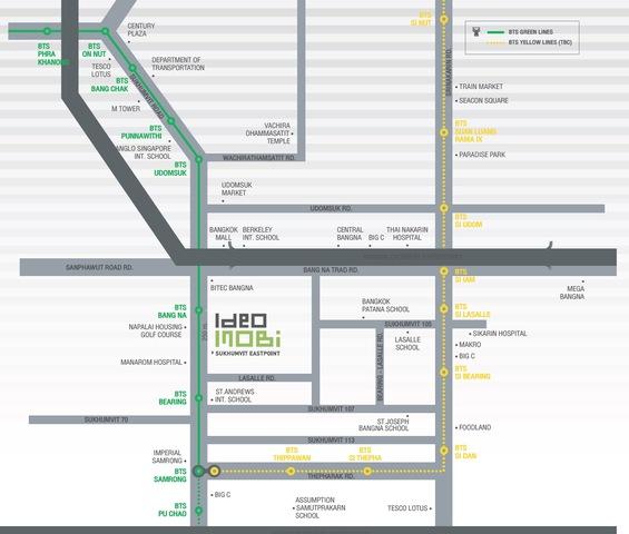 Map of Ideo Mobi Sukhumvit Eastpoint
