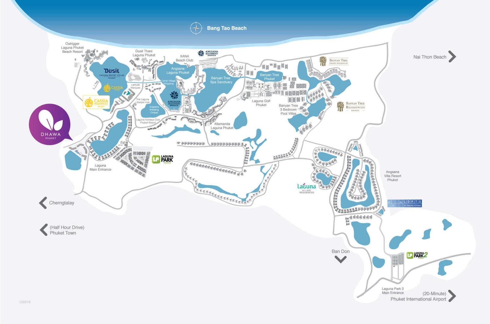Map of Dhawa Phuket