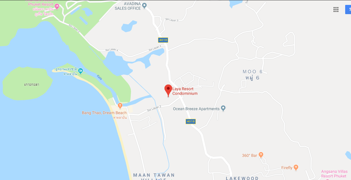 Map of Laya Resort