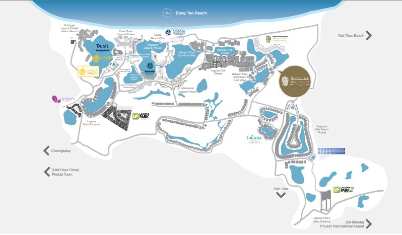 Map of  Banyan Tree Residences