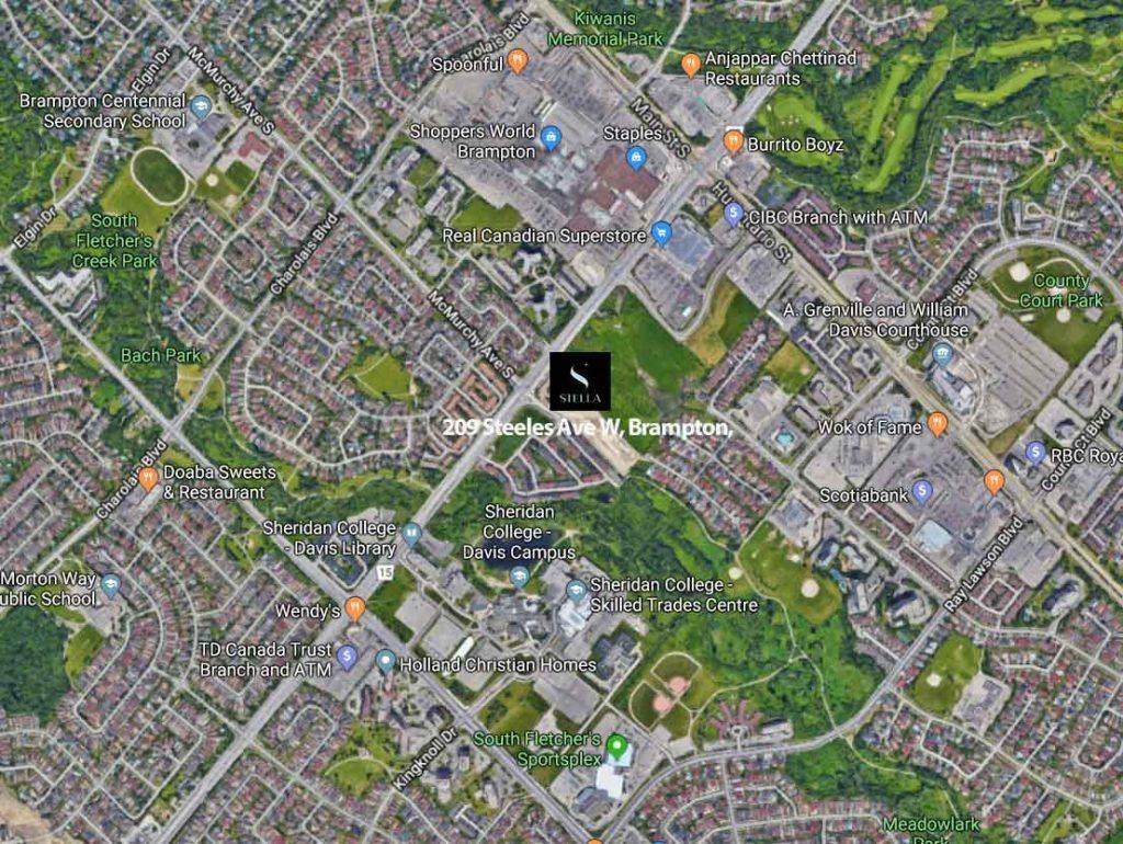 Map of Stella Condos