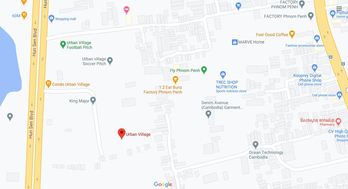 Map of Urban Village Phase 2