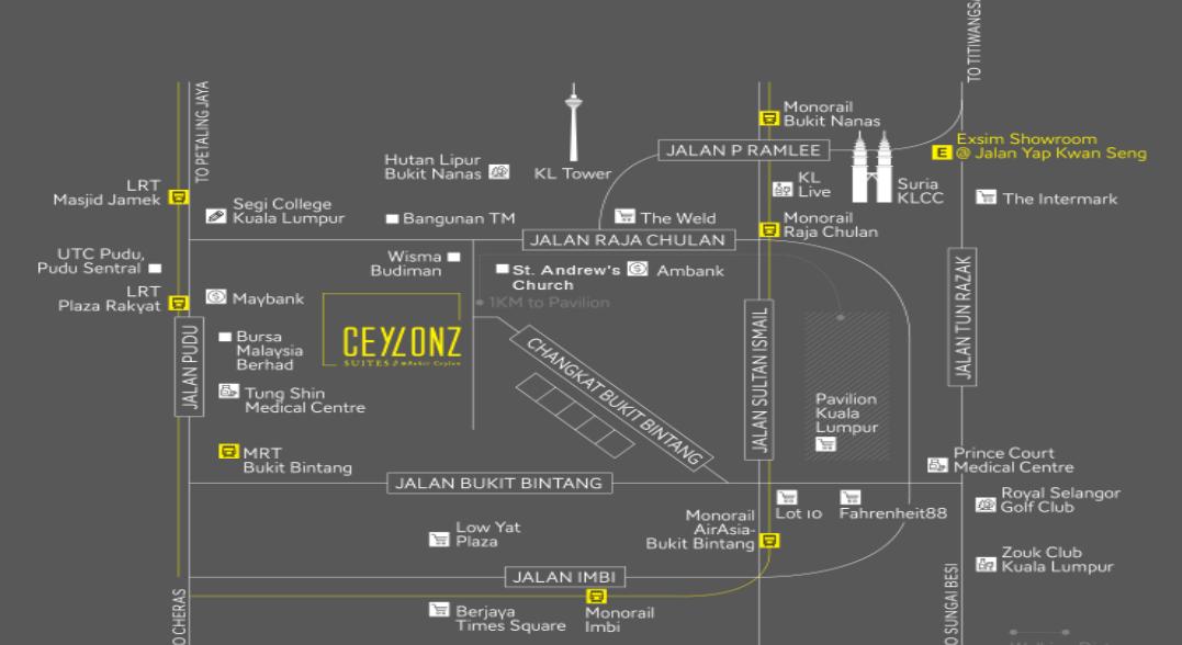 Map of An Award Winning Luxury Suite