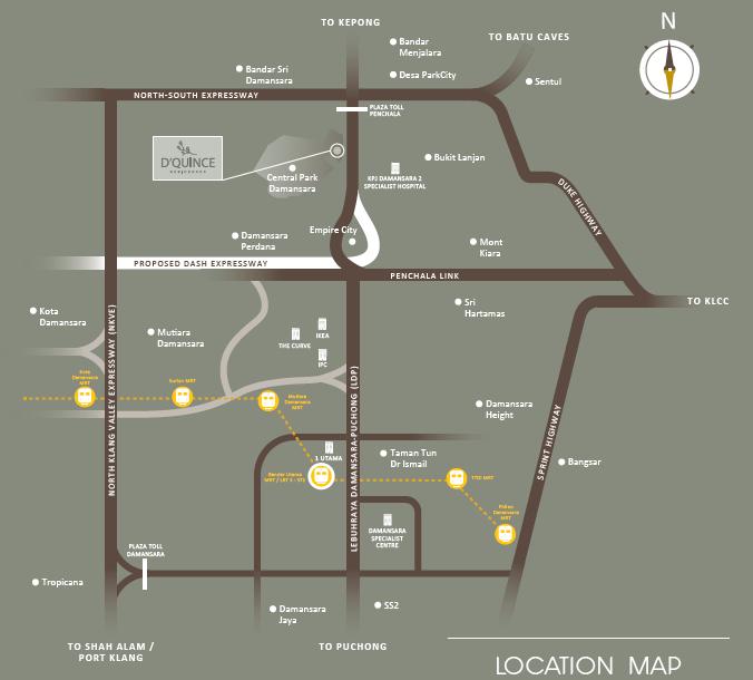 Map of Live in Versatility at Damansara