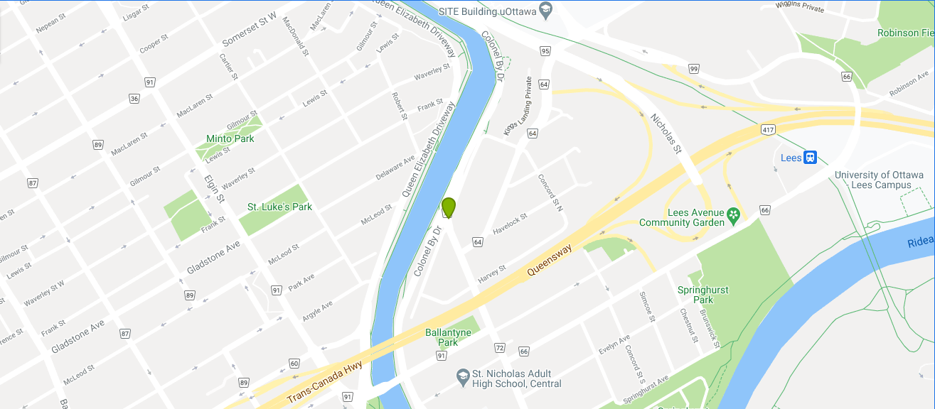 Map of Echo Canal Boutique Condominiums - Ottawa