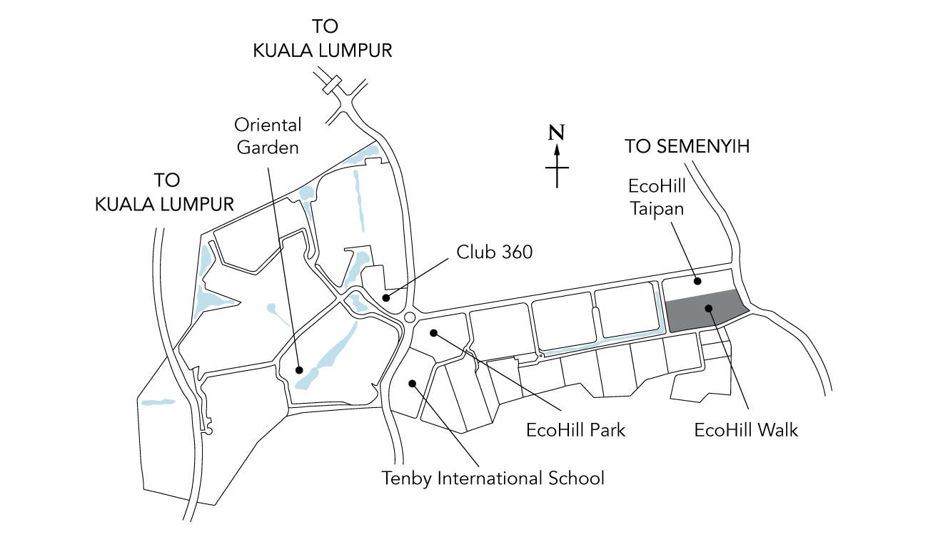 Map of Ecohill Walk