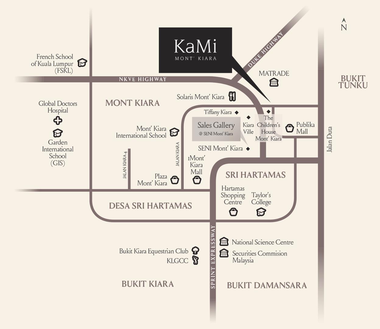 Map of KaMi Mont Kiara