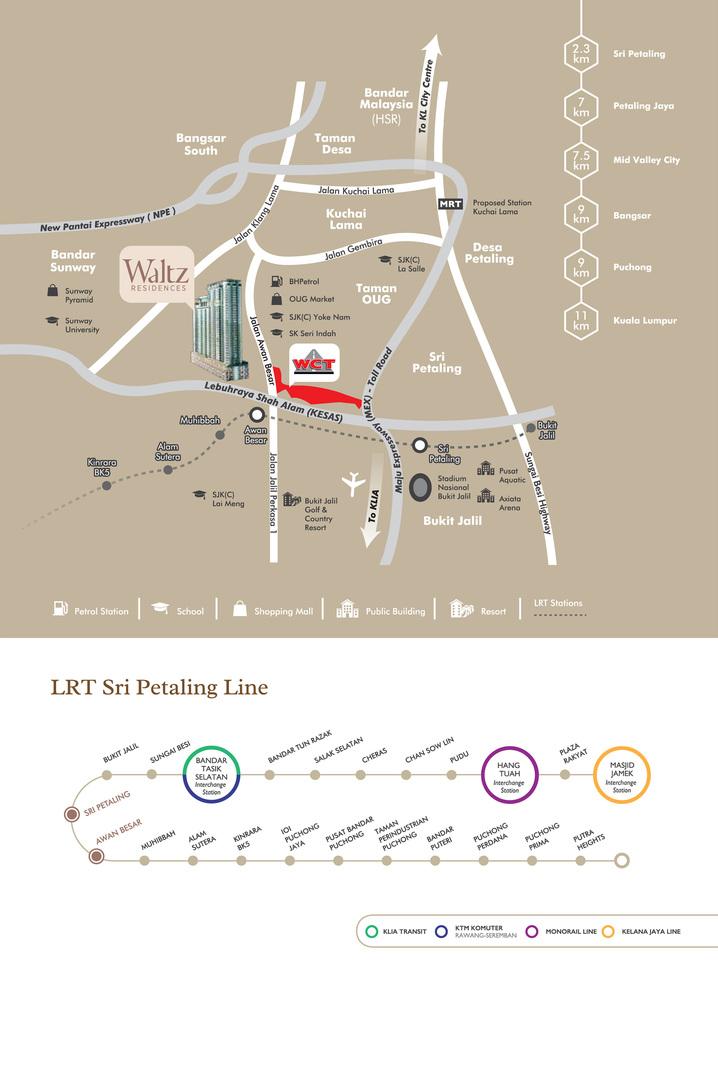Map of Waltz Residences KL