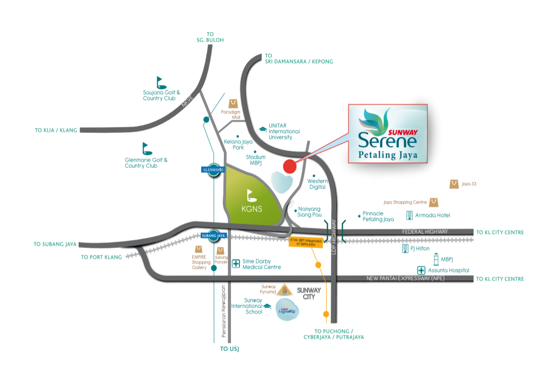 Map of The Best Lakefront Living In PJ