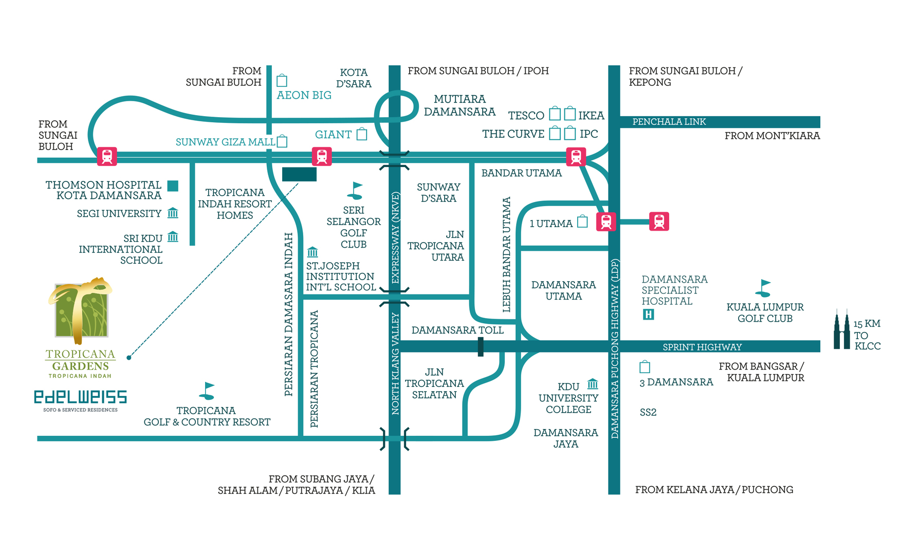 Map of Vibrant Business & Living At The Heart of Tropicana Indah