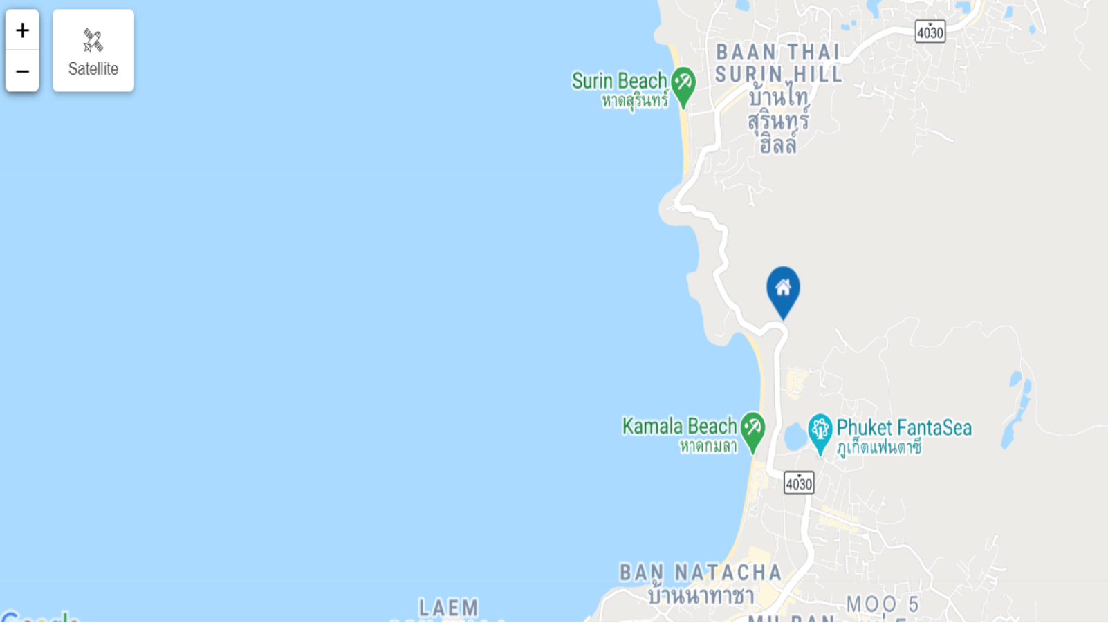 Map of Platinum Bay