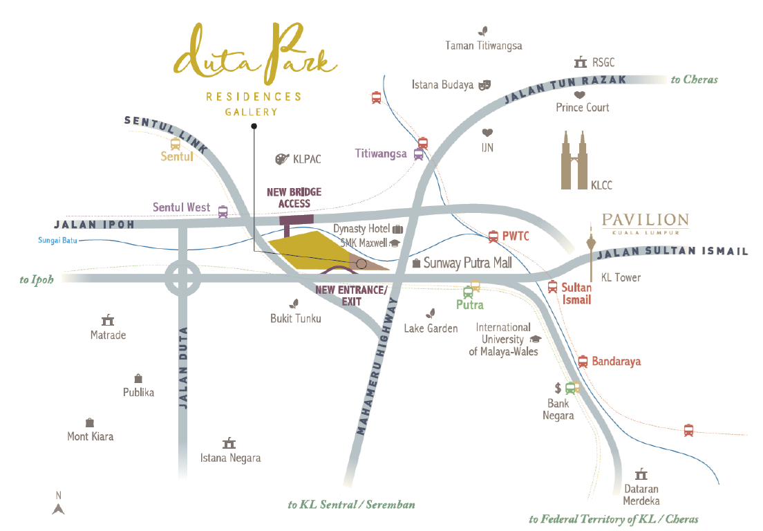 Map of Living At The Centre of Connectivity, Convenience & City Attractions