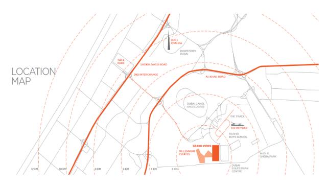 Map of Grand Views at Millennium Estates