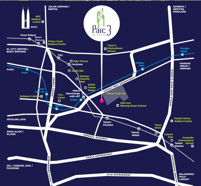 Map of An Iconic Design Condominium