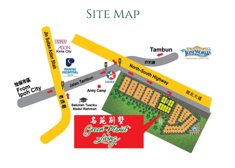 Map of Manor Born The Dales @ Tambun Road, Ipoh