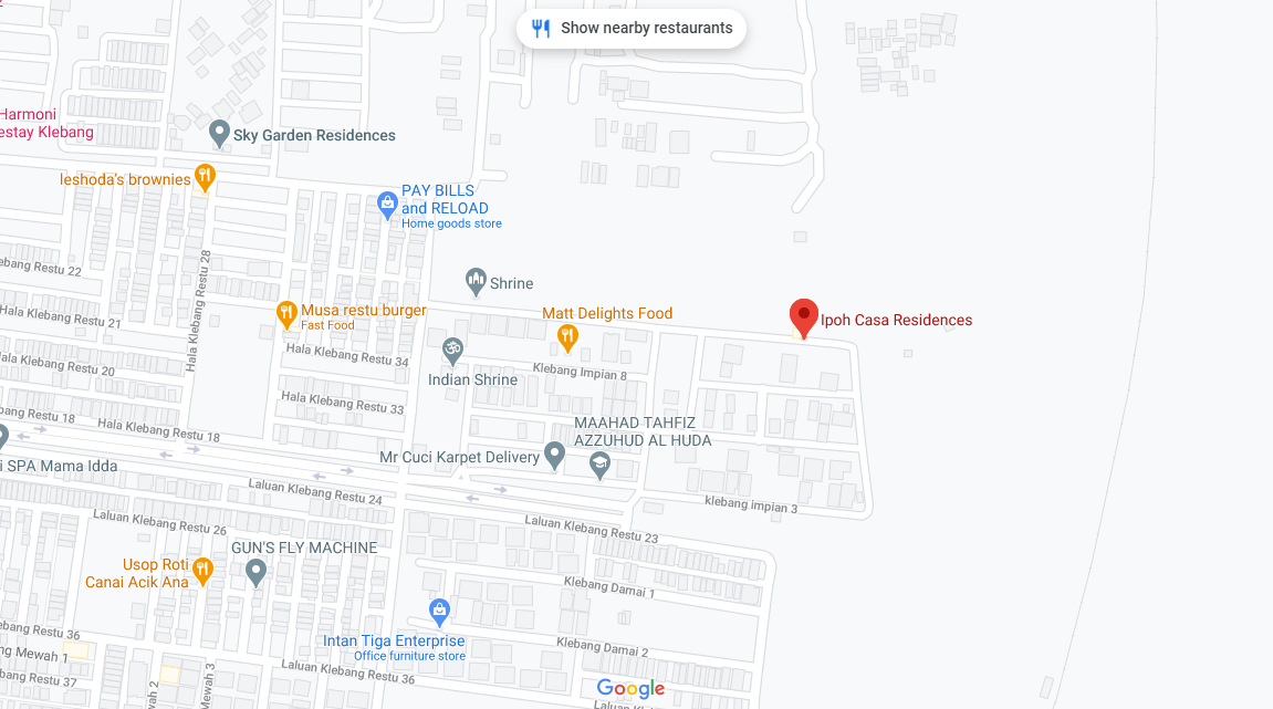 Map of Casa Residences @ Ipoh North