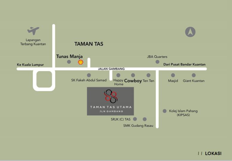 Map of 88 Taman Tas Utama Phase II
