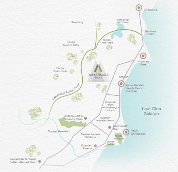 Map of Damansara Hills Kuantan