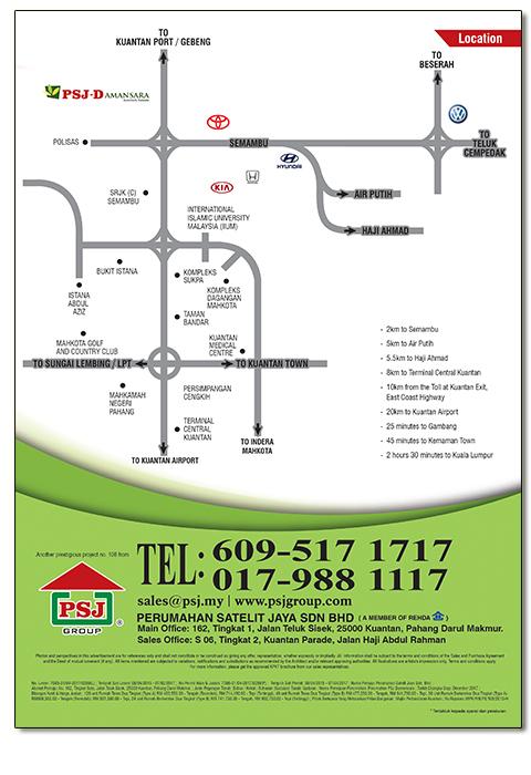 Map of PSJ-Damansara