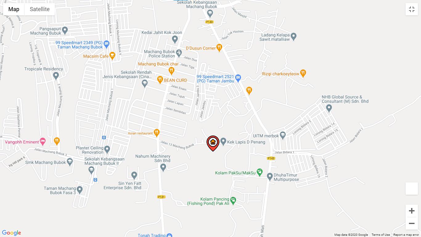 Map of Gated & Guarded Courtyard Villas @ Bukit Mertajam