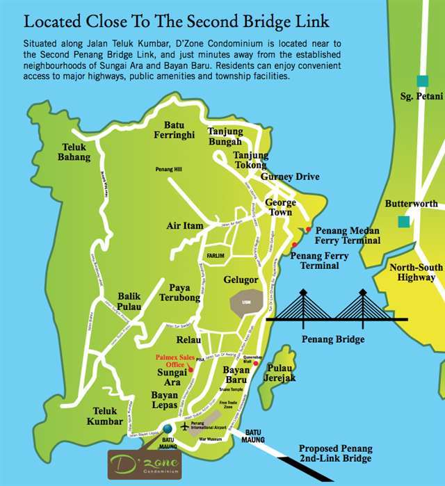 Map of Pretigious Condominium In Teluk Kumbar