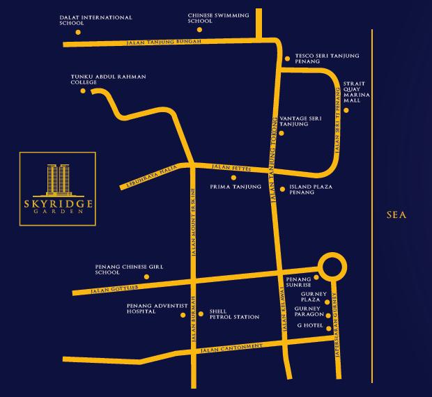 Map of Skyridge Garden