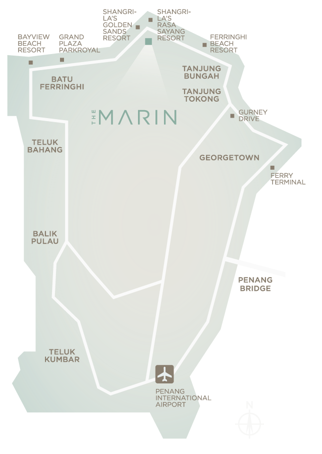 Map of The Marin At Ferringhi