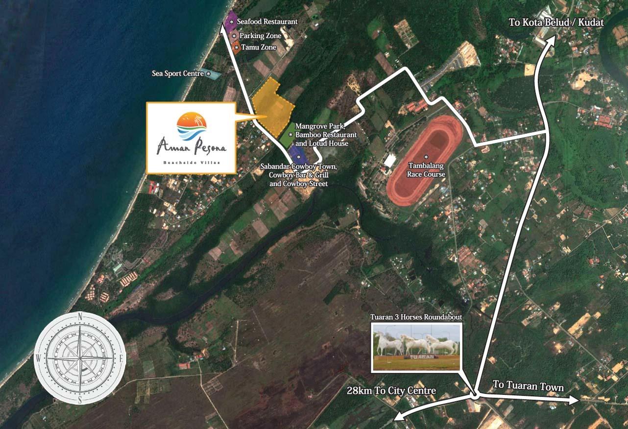 Map of Aman Pesona Beachside Villas
