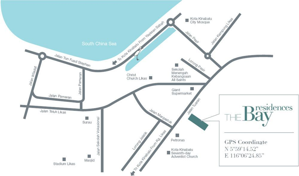 Map of Bay Suites